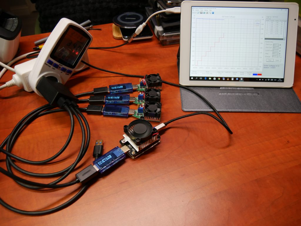 Auket 3 port test setup