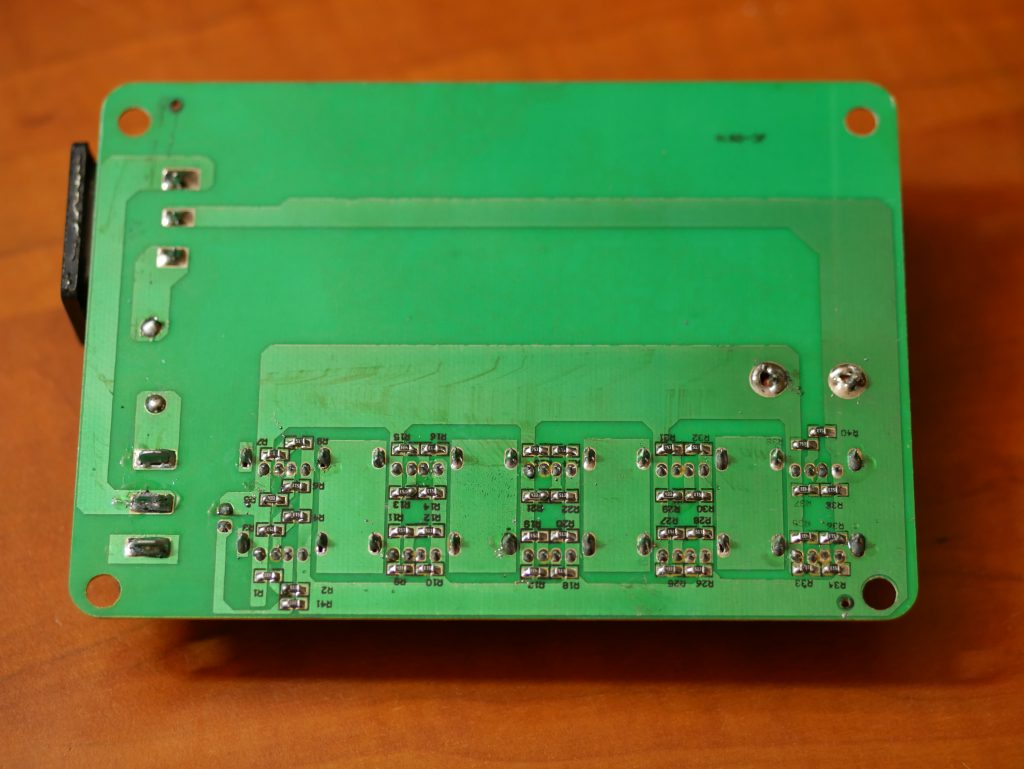 Backside of the big PCB