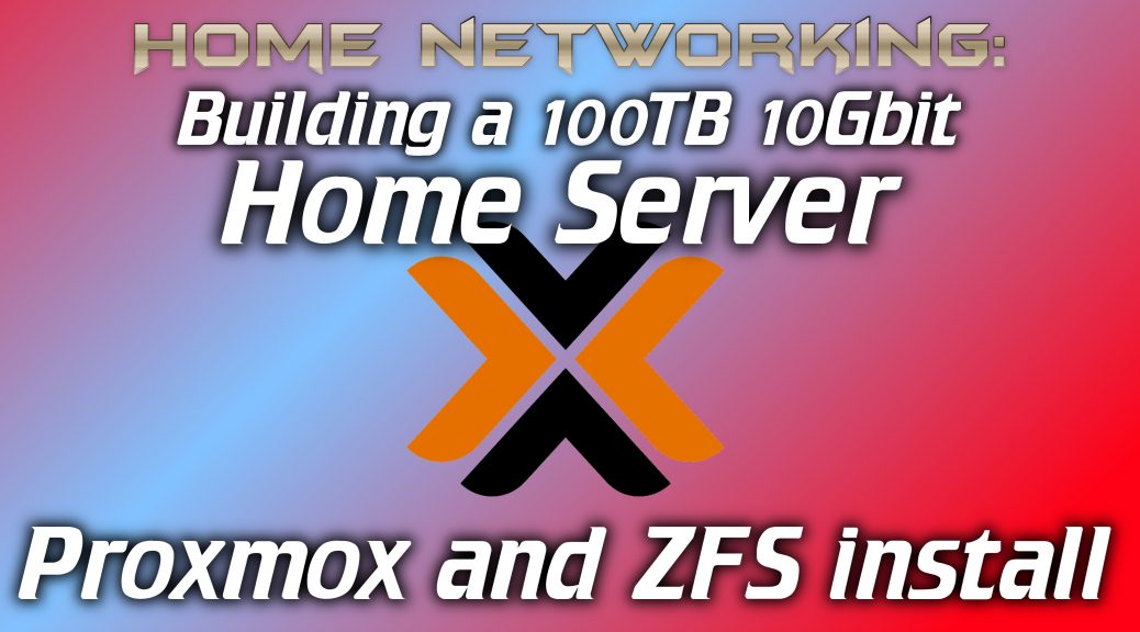 How to install Proxmox and setup a ZFS Pool - Intermittent